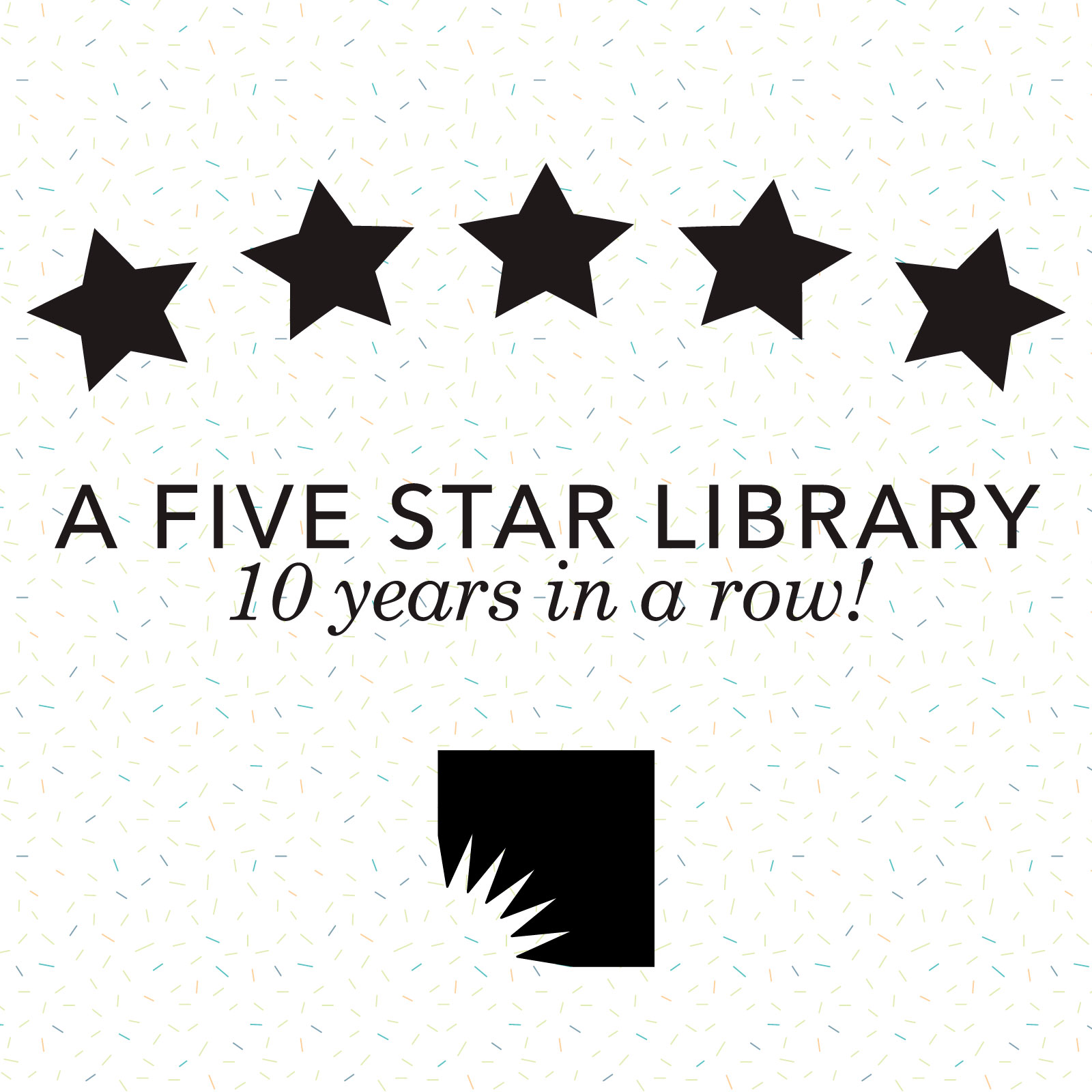 Thumbnail for AADL Earns Five Star Rating for 10th Year in a Row