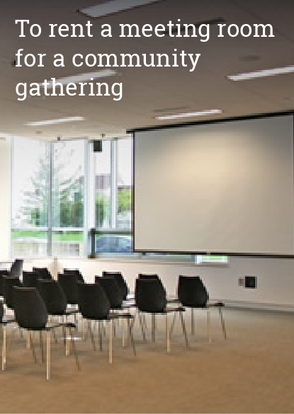 Visits to rent a meeting room for a community gathering