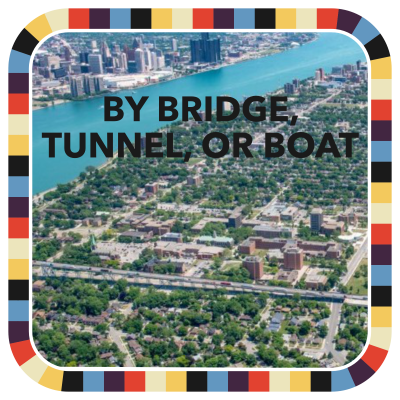 By Bridge, Tunnel or Boat badge image