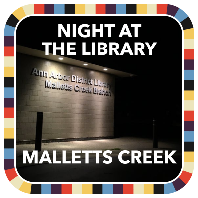 Night at the Library: Malletts Creek badge image