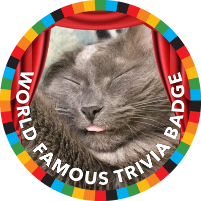 World Famous Trivia: The Honorary Kite Award For Incessant Participation Badge image