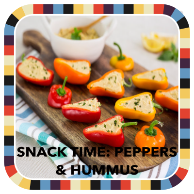 Snack Time: Peppers & Hummus badge image