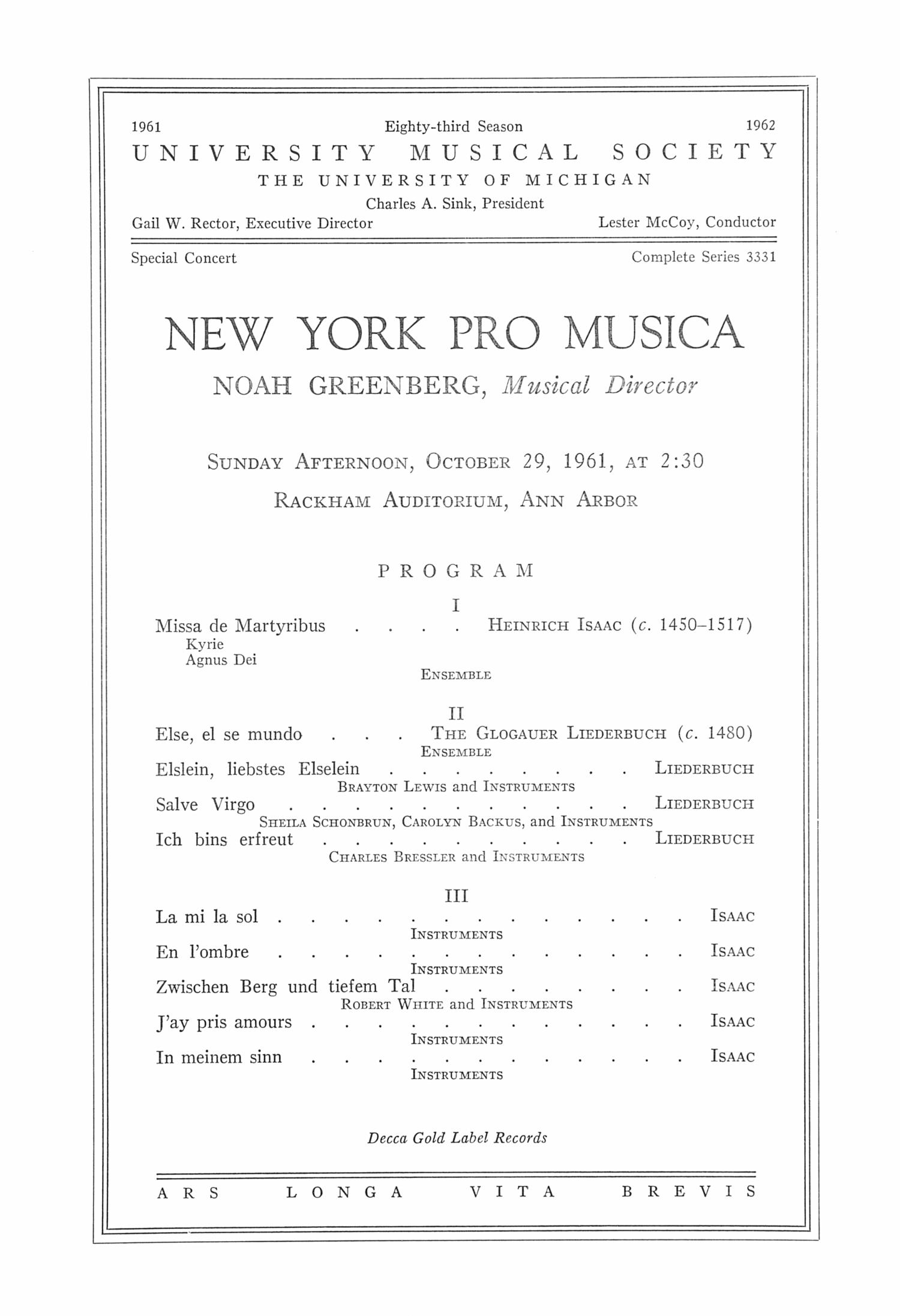 New York Pro Musica Noah Greenberg Medieval English Carols And Italian Dances