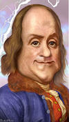 Ben Franklin caricature by Donkey Hotey, Flickr.com