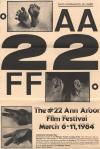 Cover image for Entry Form for 22nd Ann Arbor Film Festival