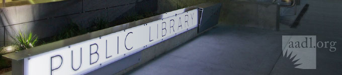 Header image of sign saying Public Library