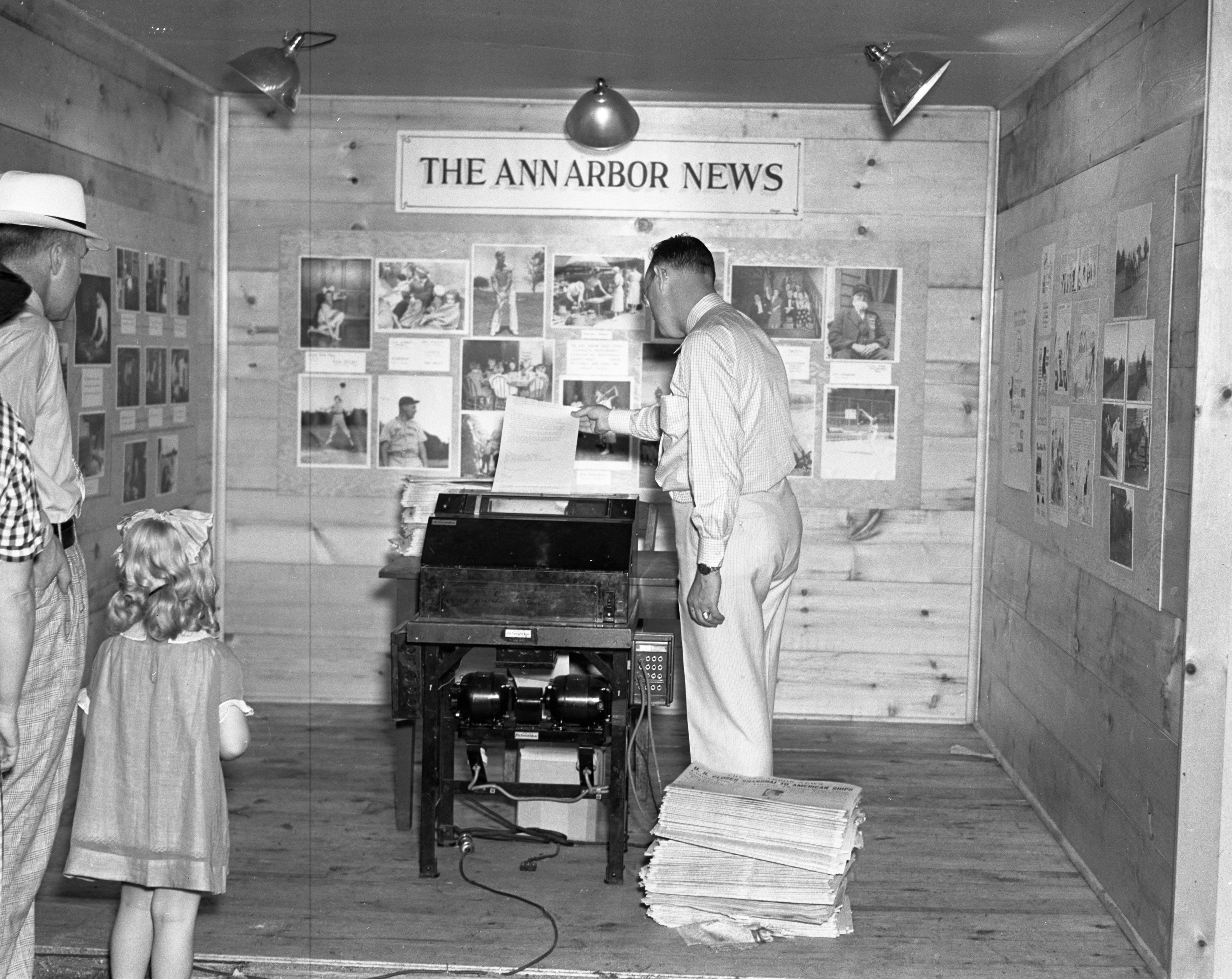 Ann arbor news booth at the ann arbor art fair 1937 old for Ann arbor painting