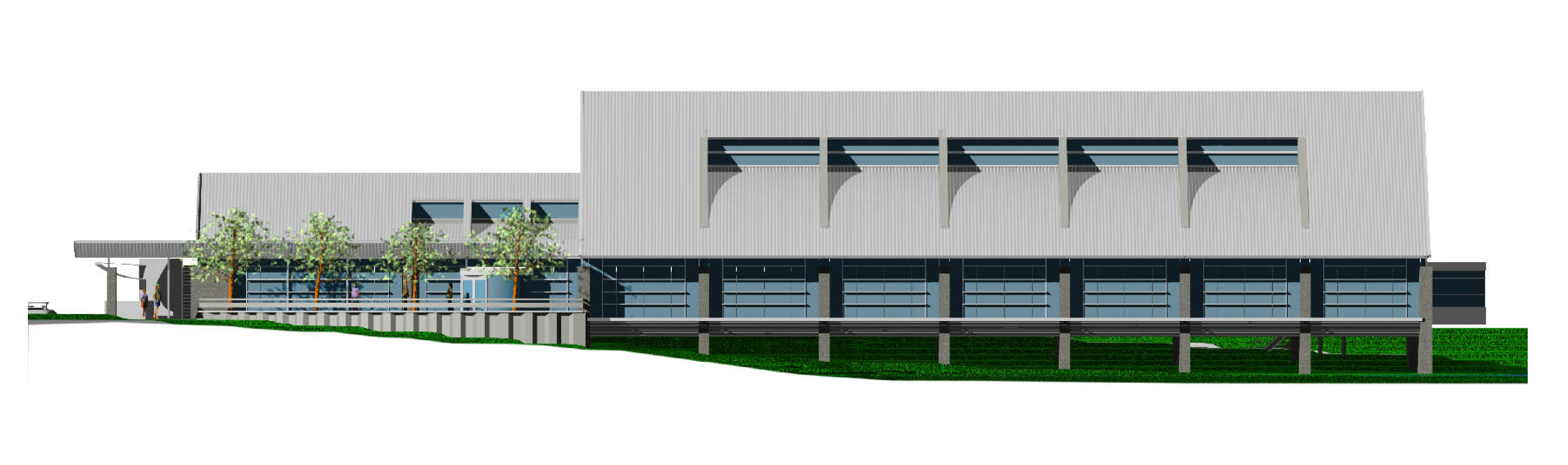 Commercial Building Elevation Drawing : Elevation drawing ann arbor district library