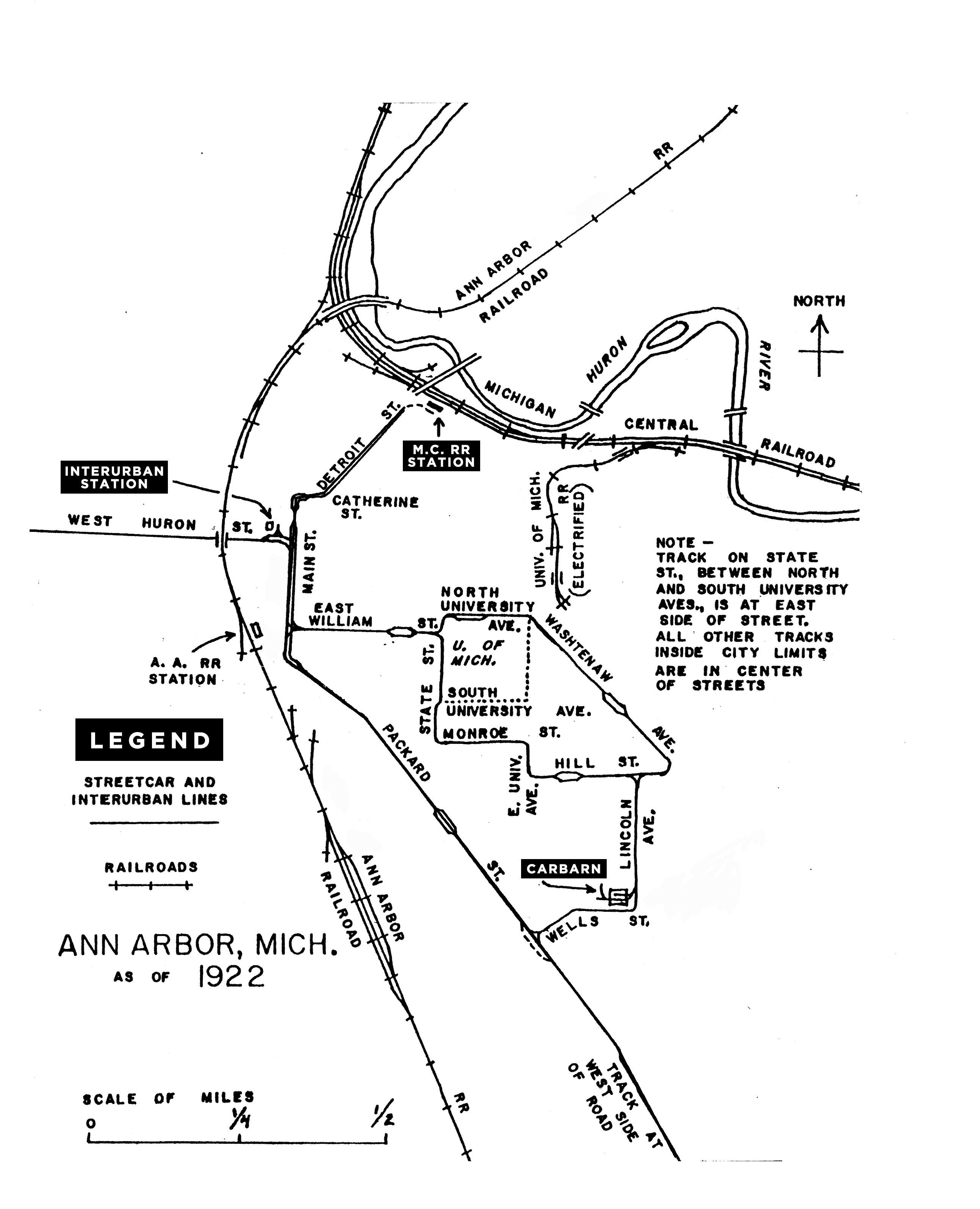 street car map  1922