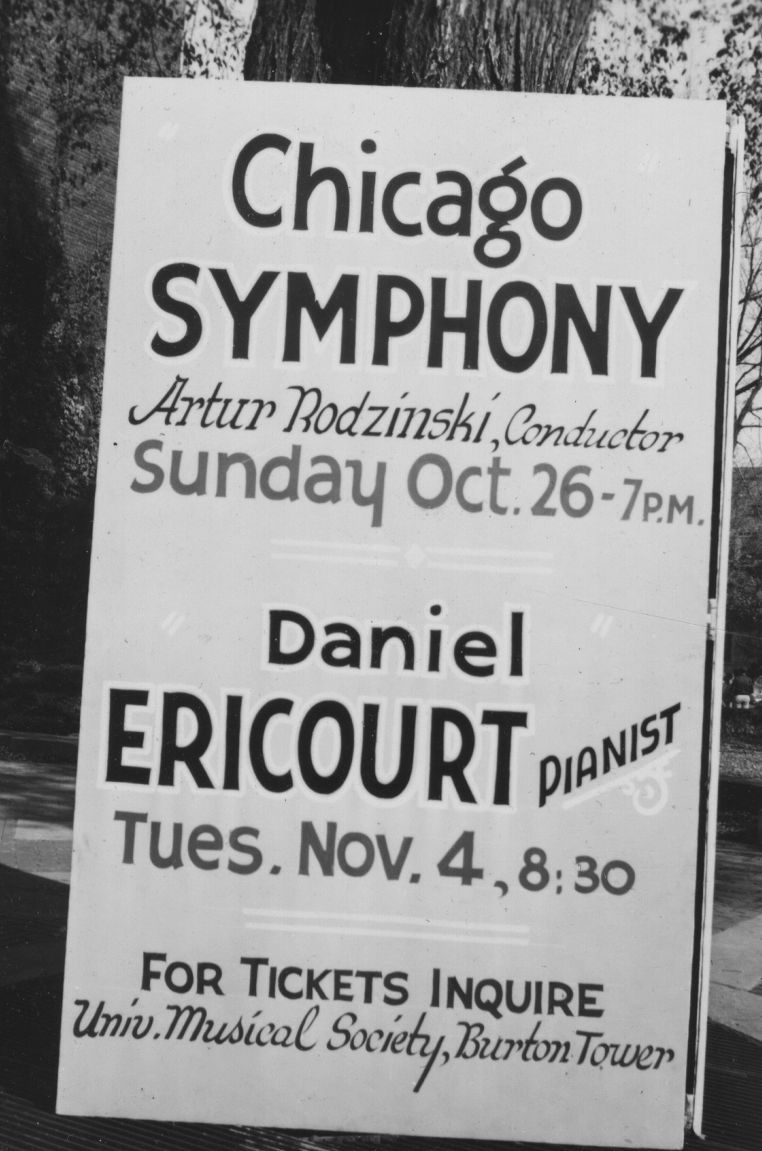 Chicago Symphony with Arthur Rodzinski, Daniel Ericourt, 1947