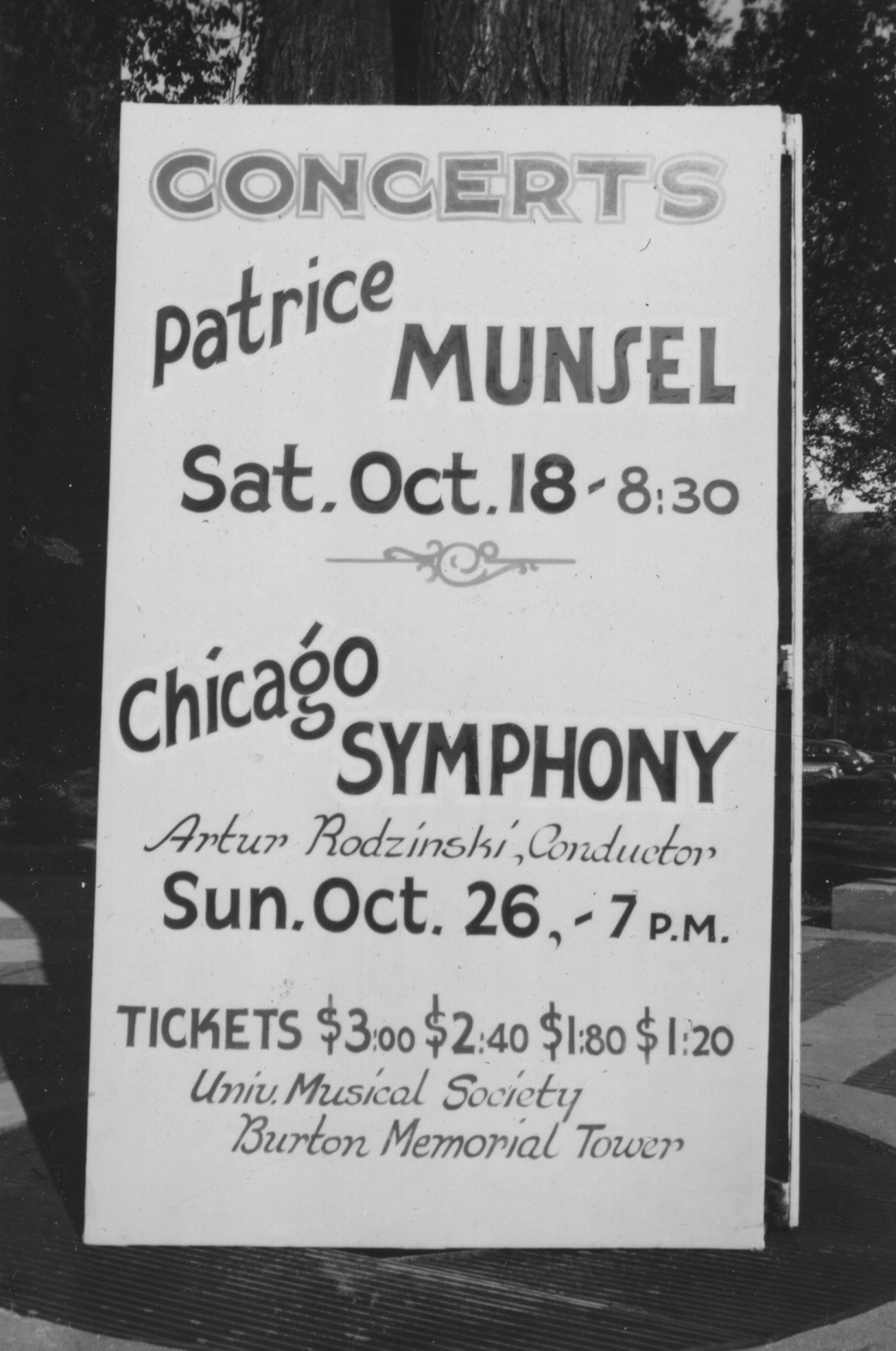 Patrice Munsel, The Chicago Symphony with Arthur Rodzinski, 1947