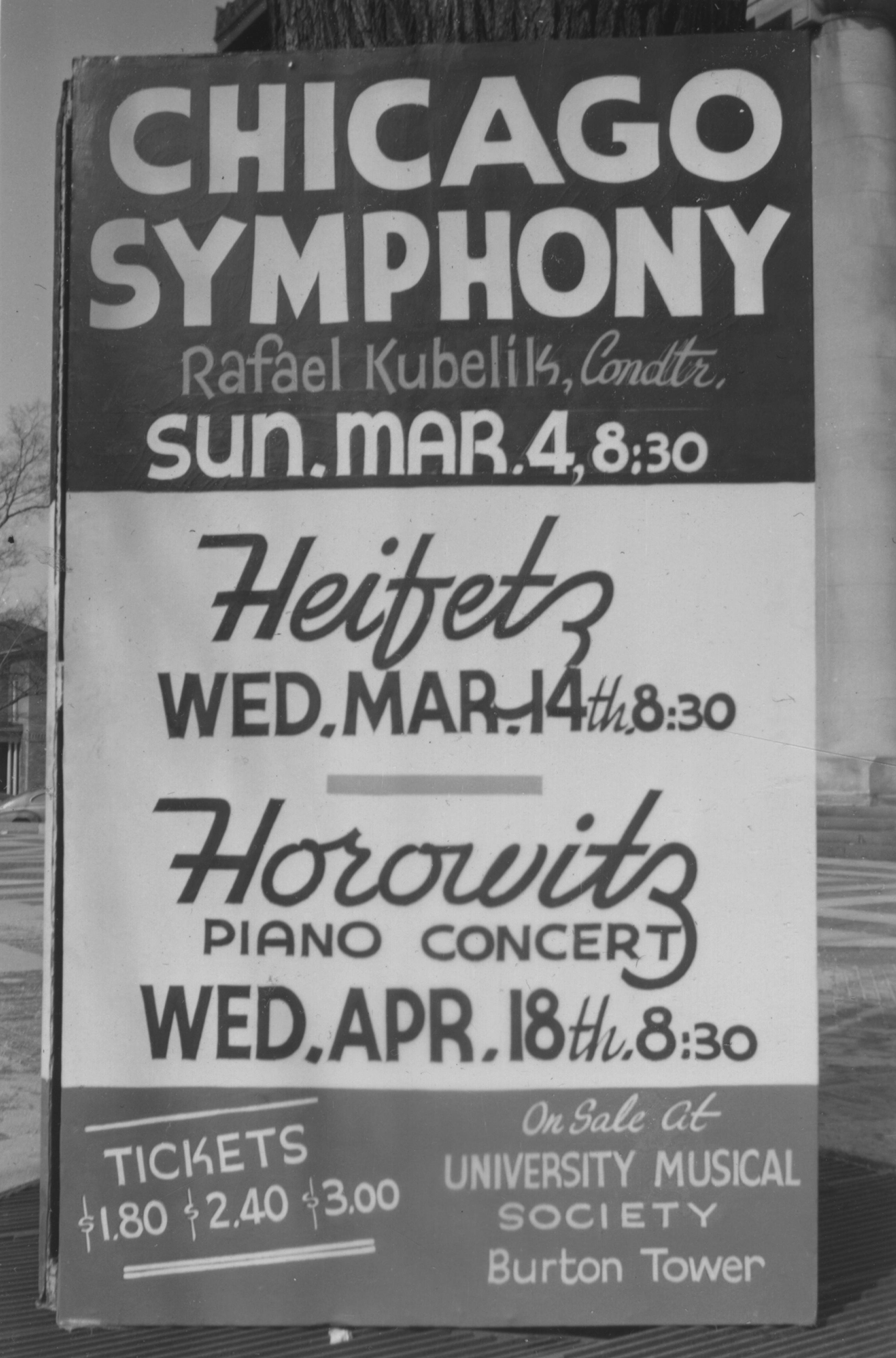 Chicago Symphony with Rafael Kubelik, Heifetz, and Horowitz,1951