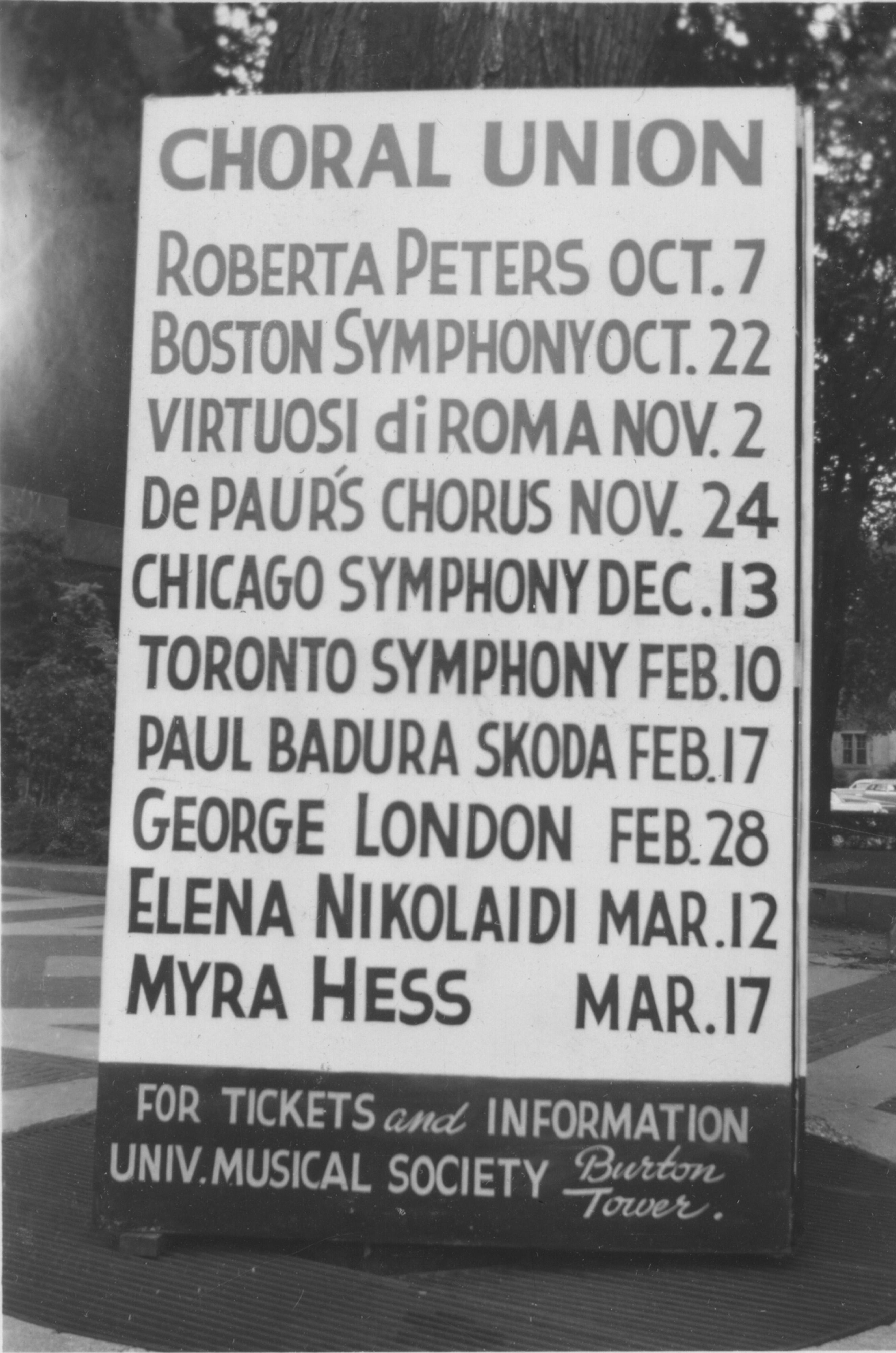 Choral Union, 1953-4