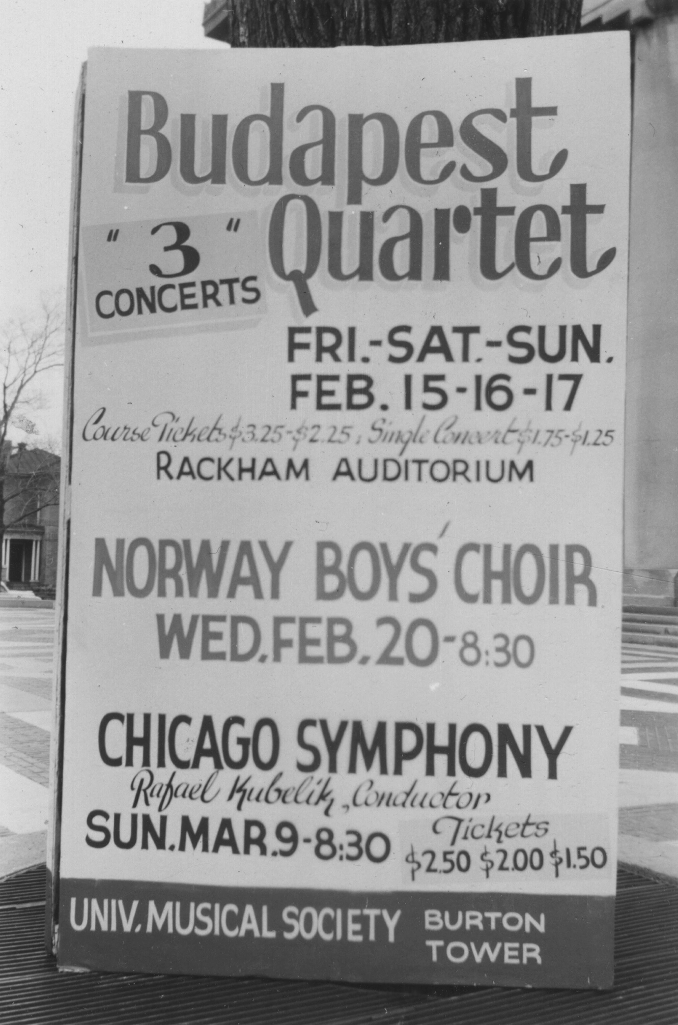 Budapest Quartet, Norway Boys' Choir, Chicago Symphony with Rafael Kubelik