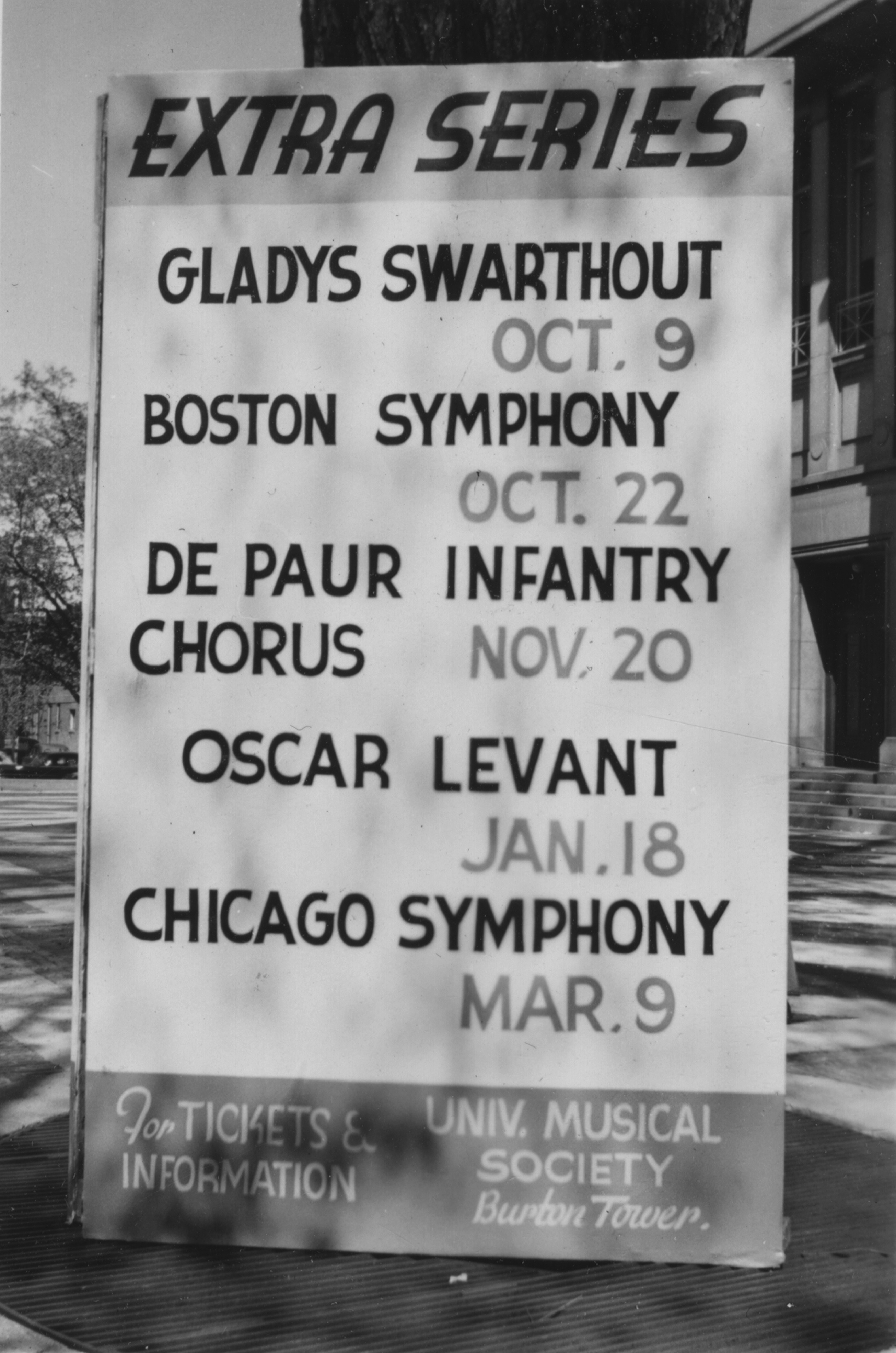 Extra Series, 1951-2