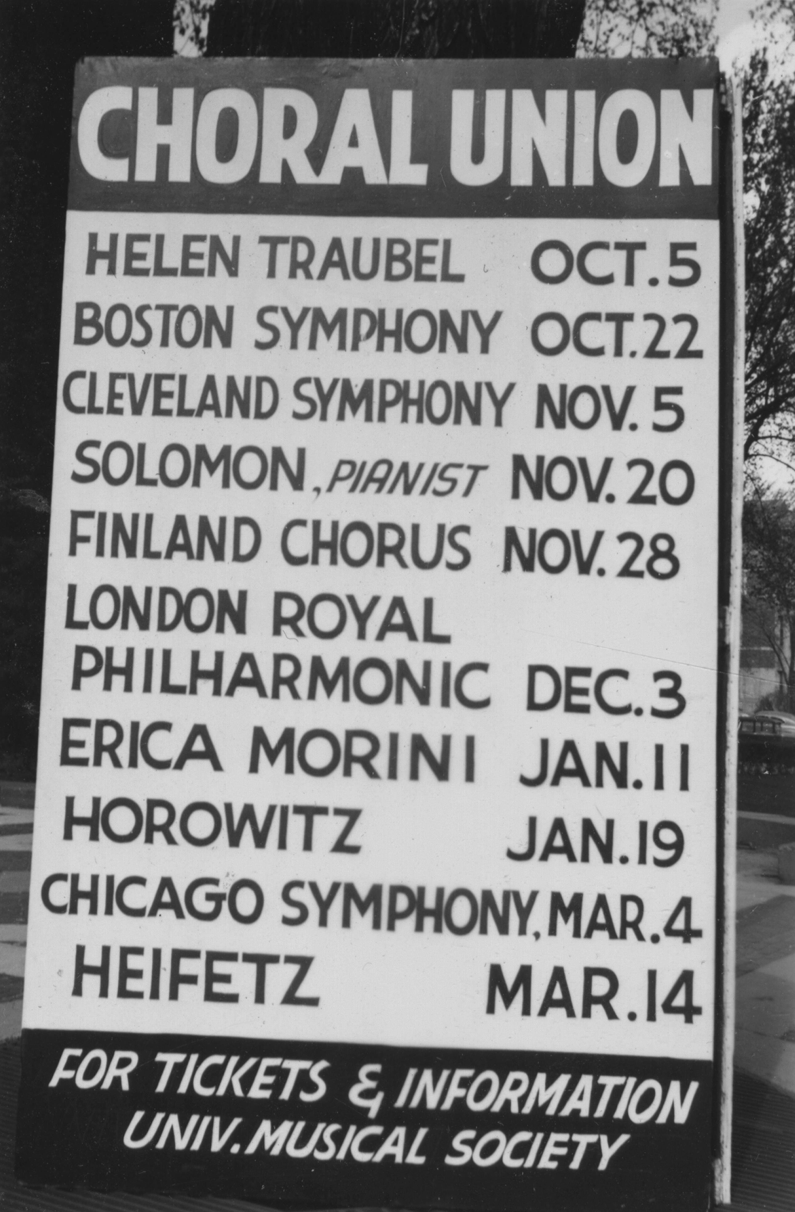 Choral Union, Fall 1950