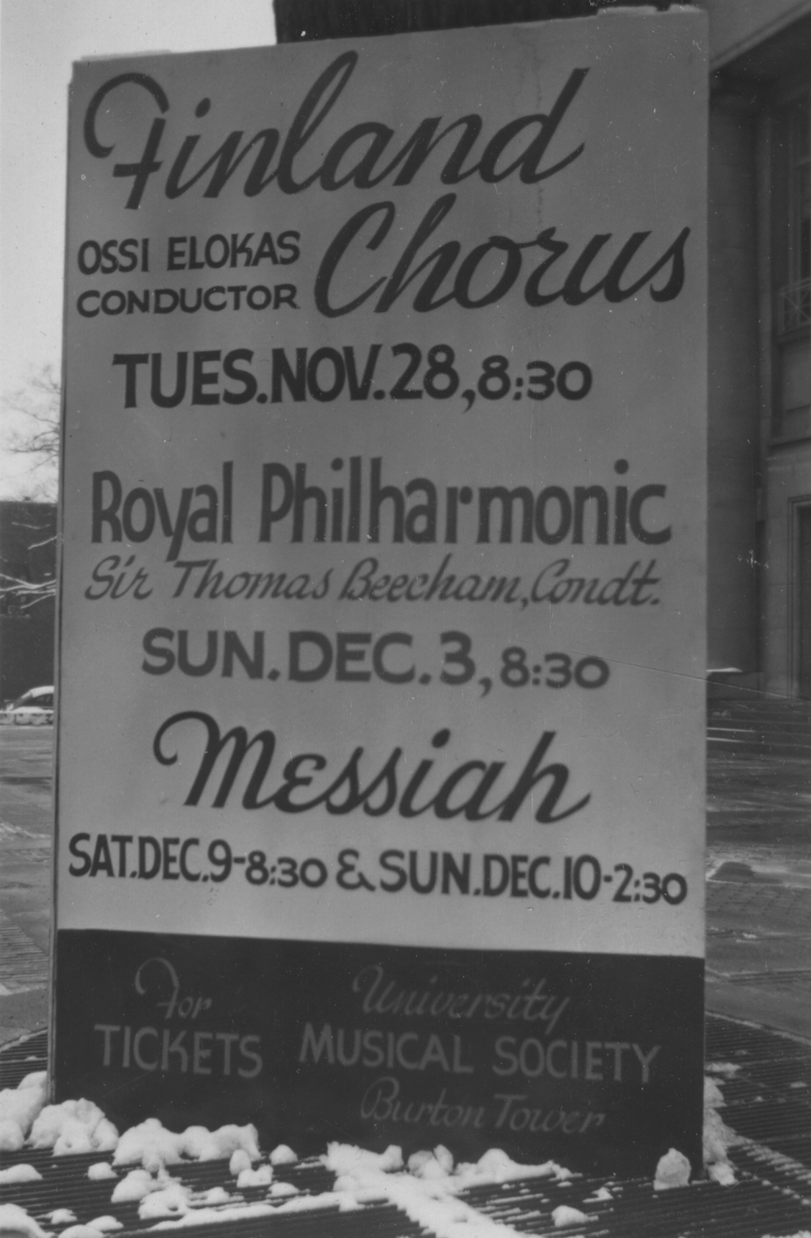 Finland Chorus with Ossi Elokas, Royal Philharmonic with Sir Thomas Beecham, Messiah