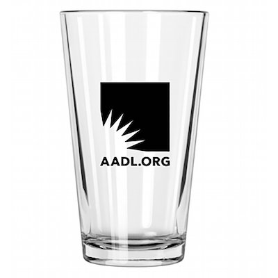 AADL Logo Pint Glass