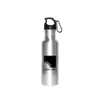 Cover image for AADL Logo Silver Slaker
