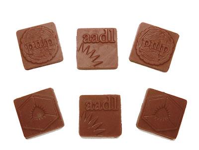 Cover image for AADL Chocolate Bag o' Logos