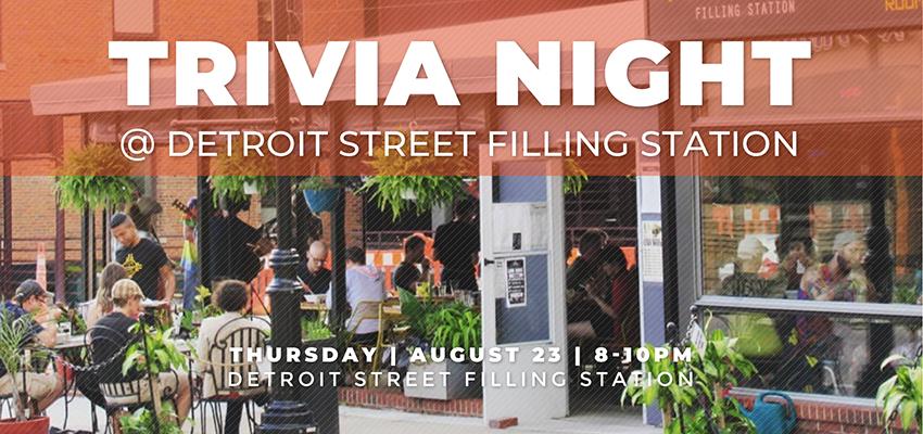 Trivia Night - Thursday August 23. .