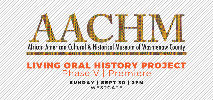 AACHM Oral History - Sunday, Sept. 30. .
