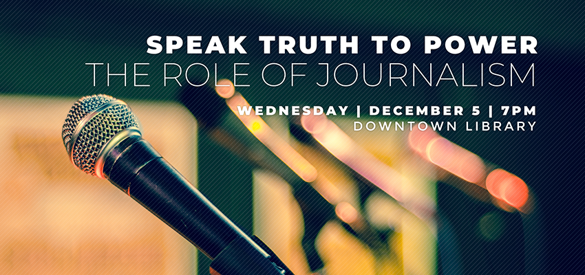 Speak Truth To Power - Wed. Dec. 5. .