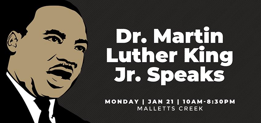 MLK Speeches - Mon Jan 21. .