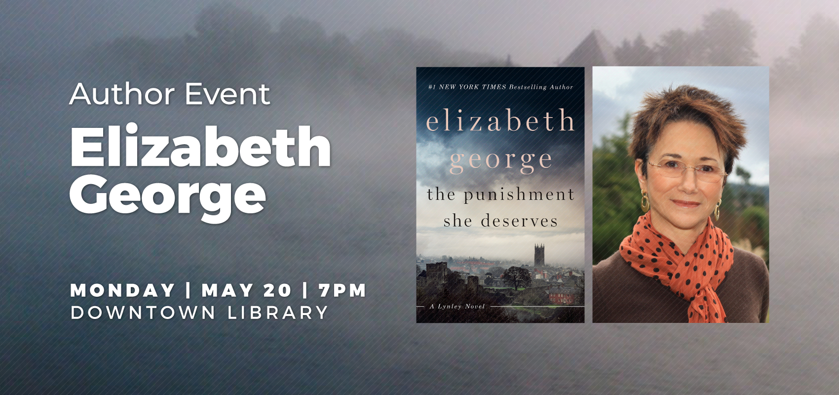 Elizabeth George - Monday May 20. .