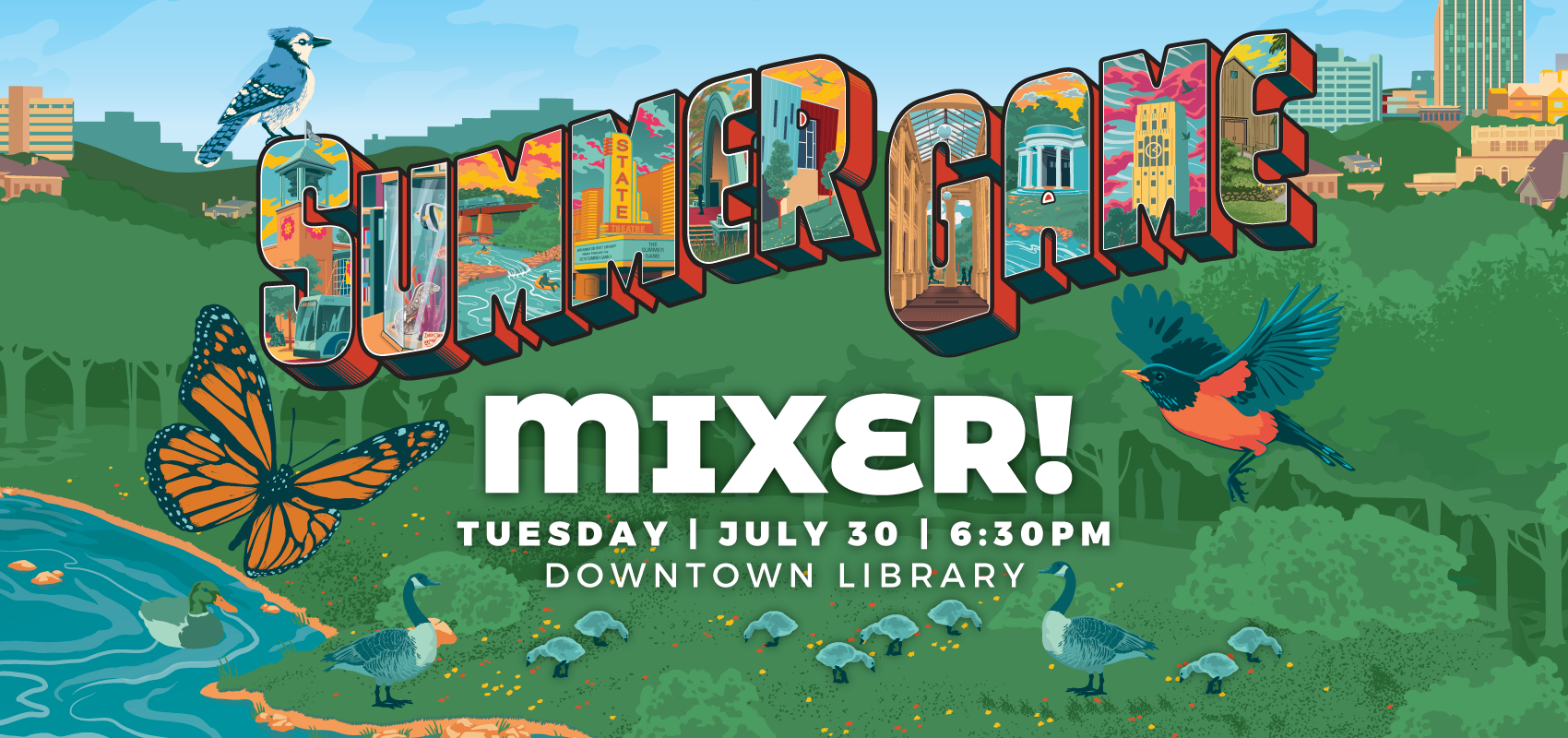 Summer Game Mixer - Tuesday July 30. .