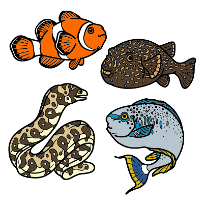 Cover image for Downtown Fish Tank Pin Set