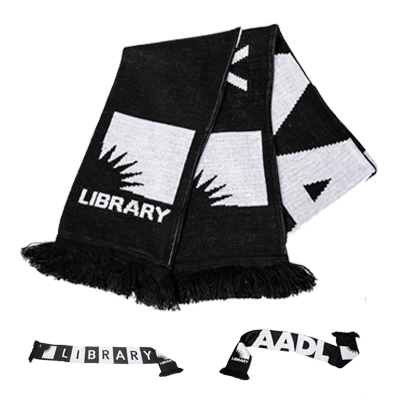 Cover image for 2019 AADL Library Fanatic Scarf
