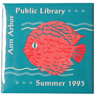 AAPL Pink Fish Button (1993) image