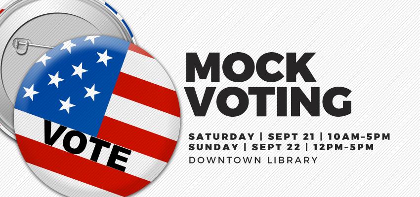 Mock Voting @ AADL. .