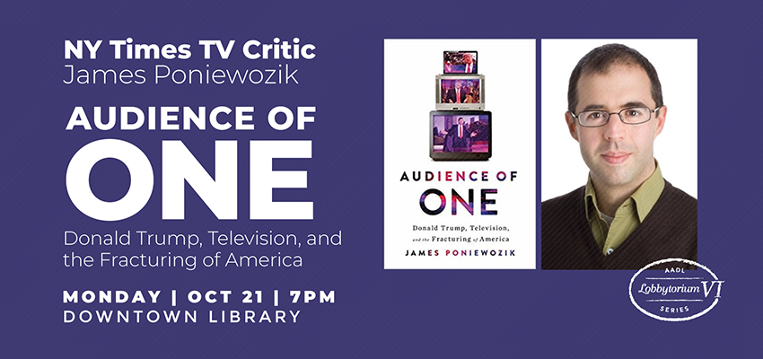 Author Event | NY Times TV Critic James Poniewozik. .