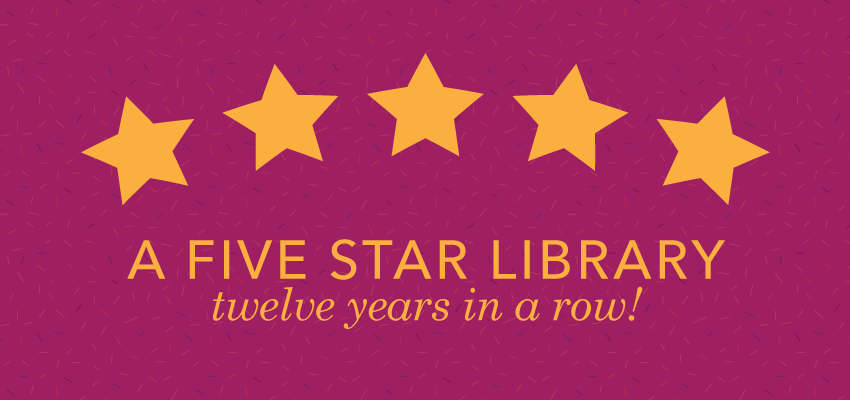 AADL Named Five Star Library for 12th Year in a Row. .
