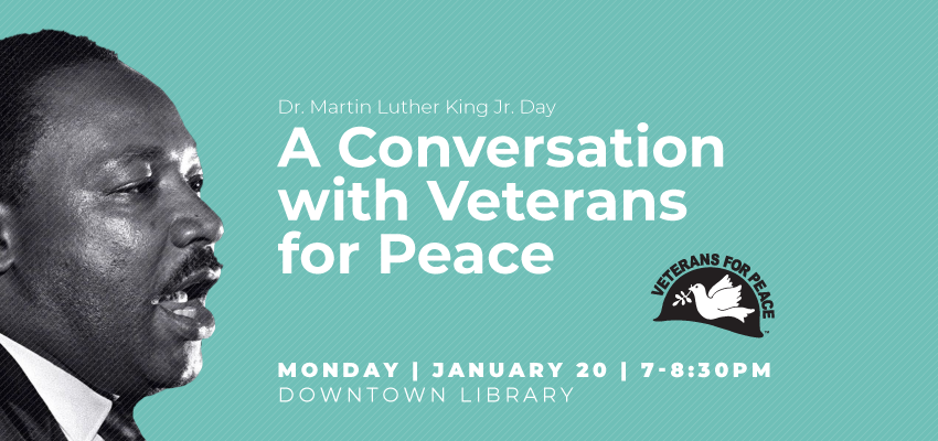 MLK vets for peace. .