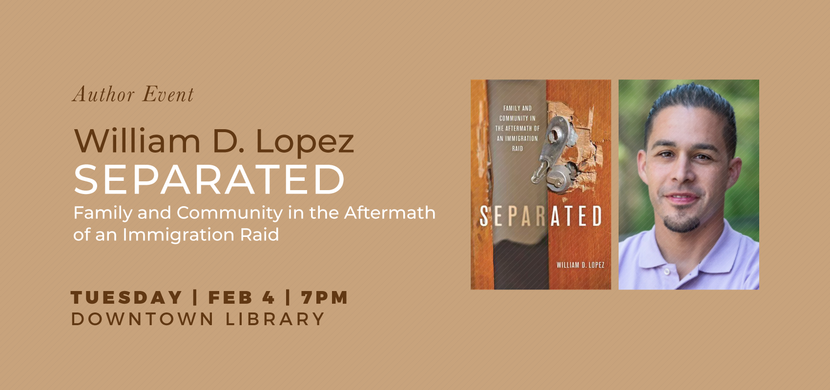 Author Event | William D. Lopez. .