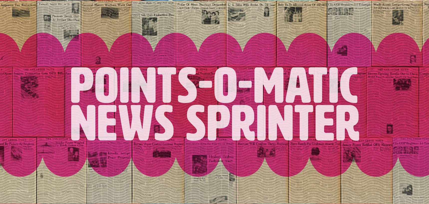 Points-O-Matic News Sprinter. .