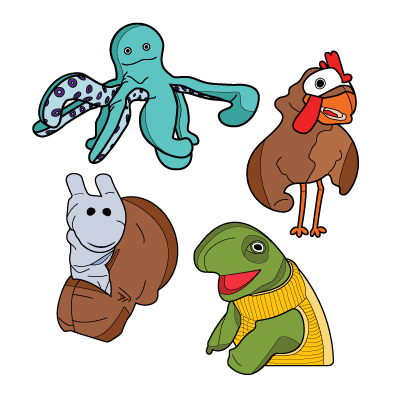 Cover image for Storytime Puppets Enamel Pin Set