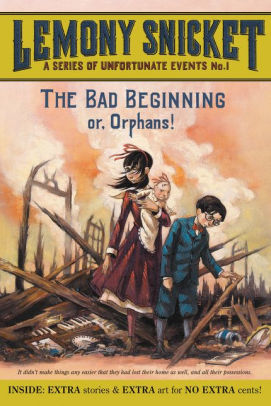 Cover image for The Bad Beginning: A Series of Unfortunate Events No. 1 by Lemony Snicket