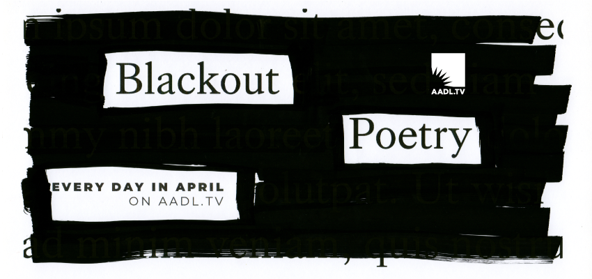 Blackout Poetry. .