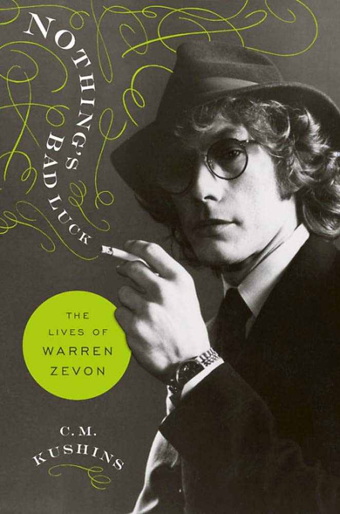 Promotional image for Martin Bandyke Under Covers for October 2019: Martin interviews C.M. Kushins, author of  Nothing's Bad Luck: The Lives of Warren Zevon. podcast