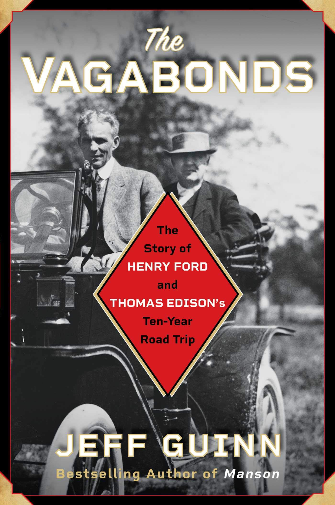 Promotional image for Martin Bandyke Under Covers for February 2020: Martin interviews Jeff Guinn, author of The Vagabonds: The Story of Henry Ford and Thomas Edison's Ten-Year Road Trip podcast