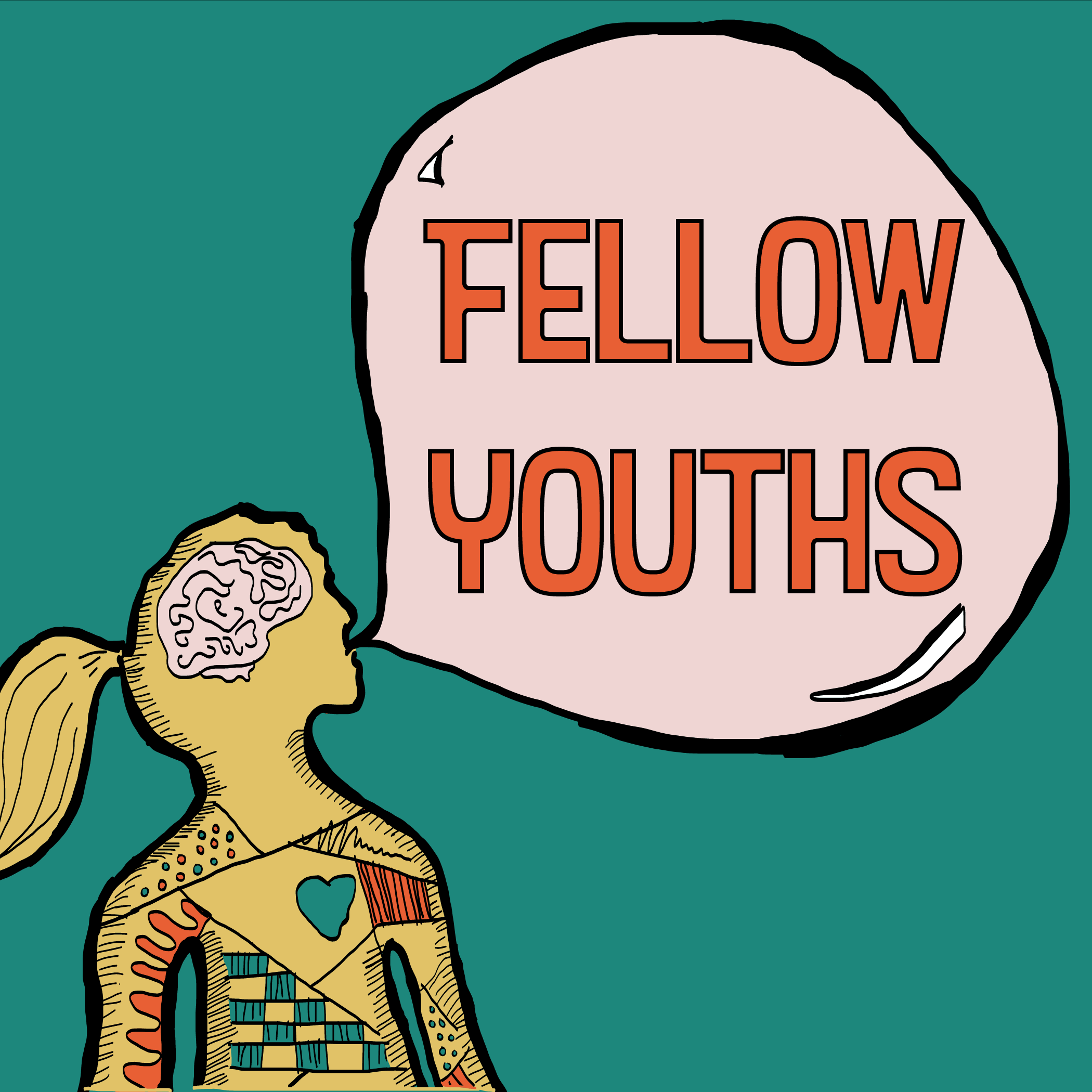 Promotional image for Fellow Youths: Giant Daze podcast