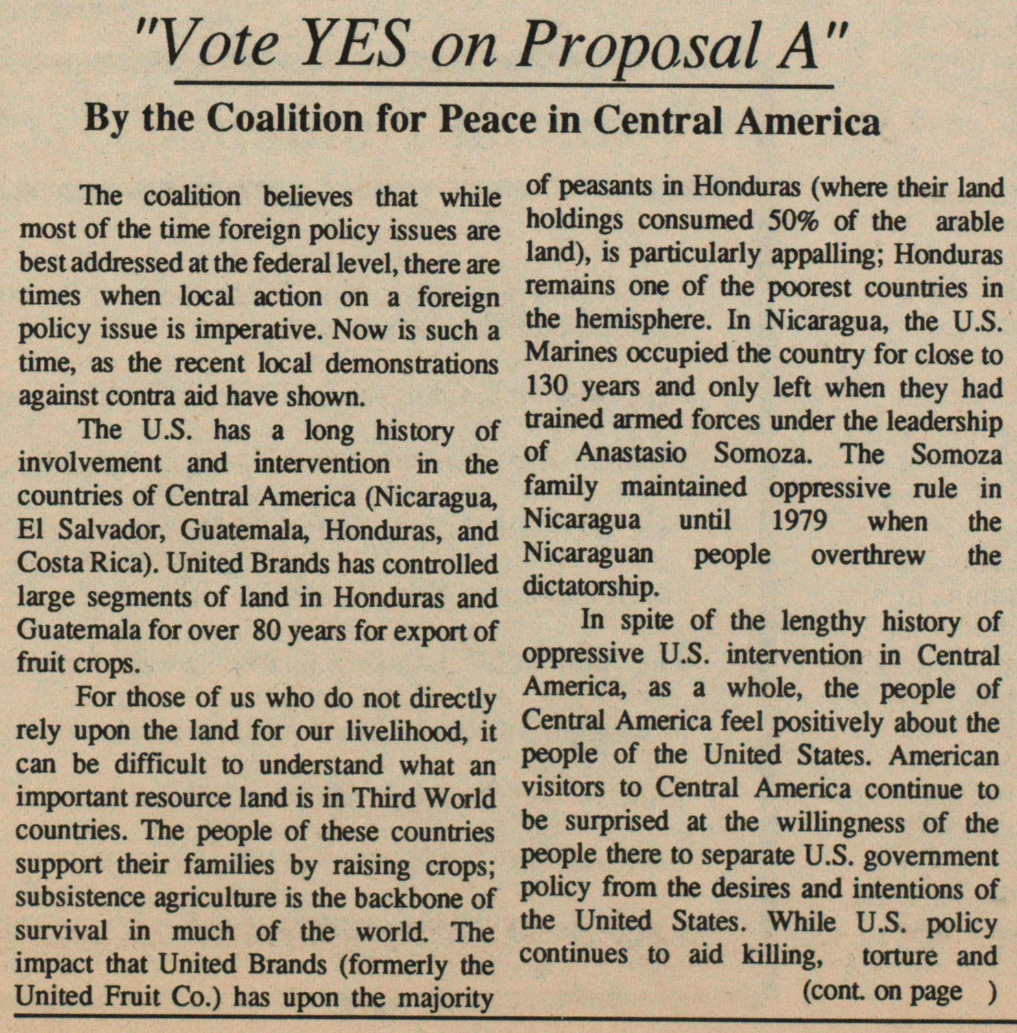 """Vote Yes On Proposal A"" image"