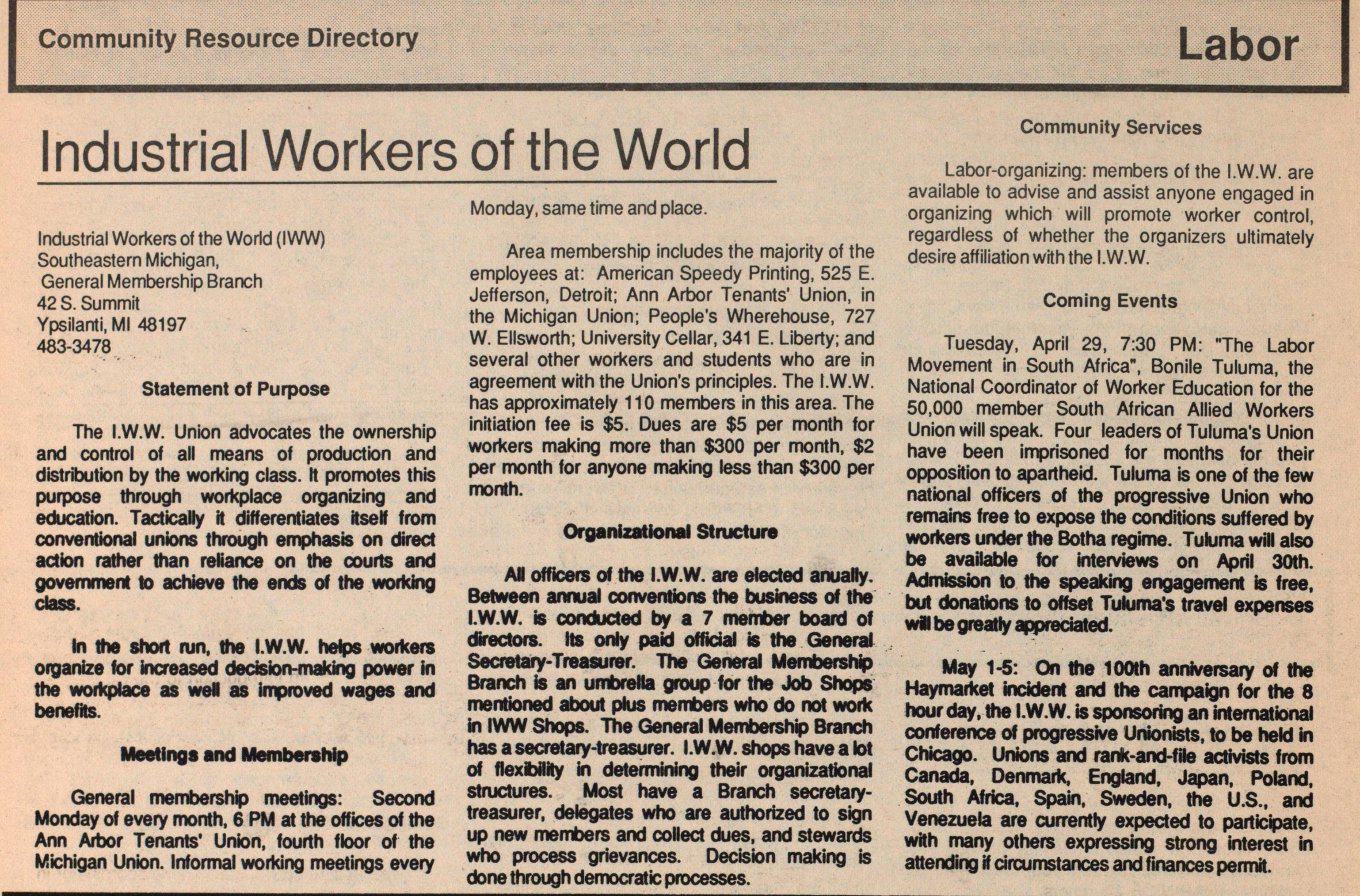 Industrial Workers Of The World image
