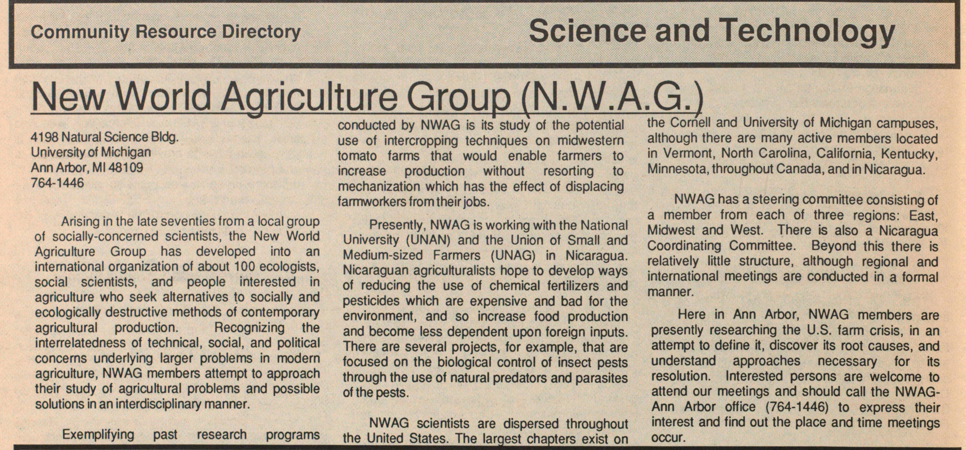 New World Agriculture Group (N.W.A.G.) image