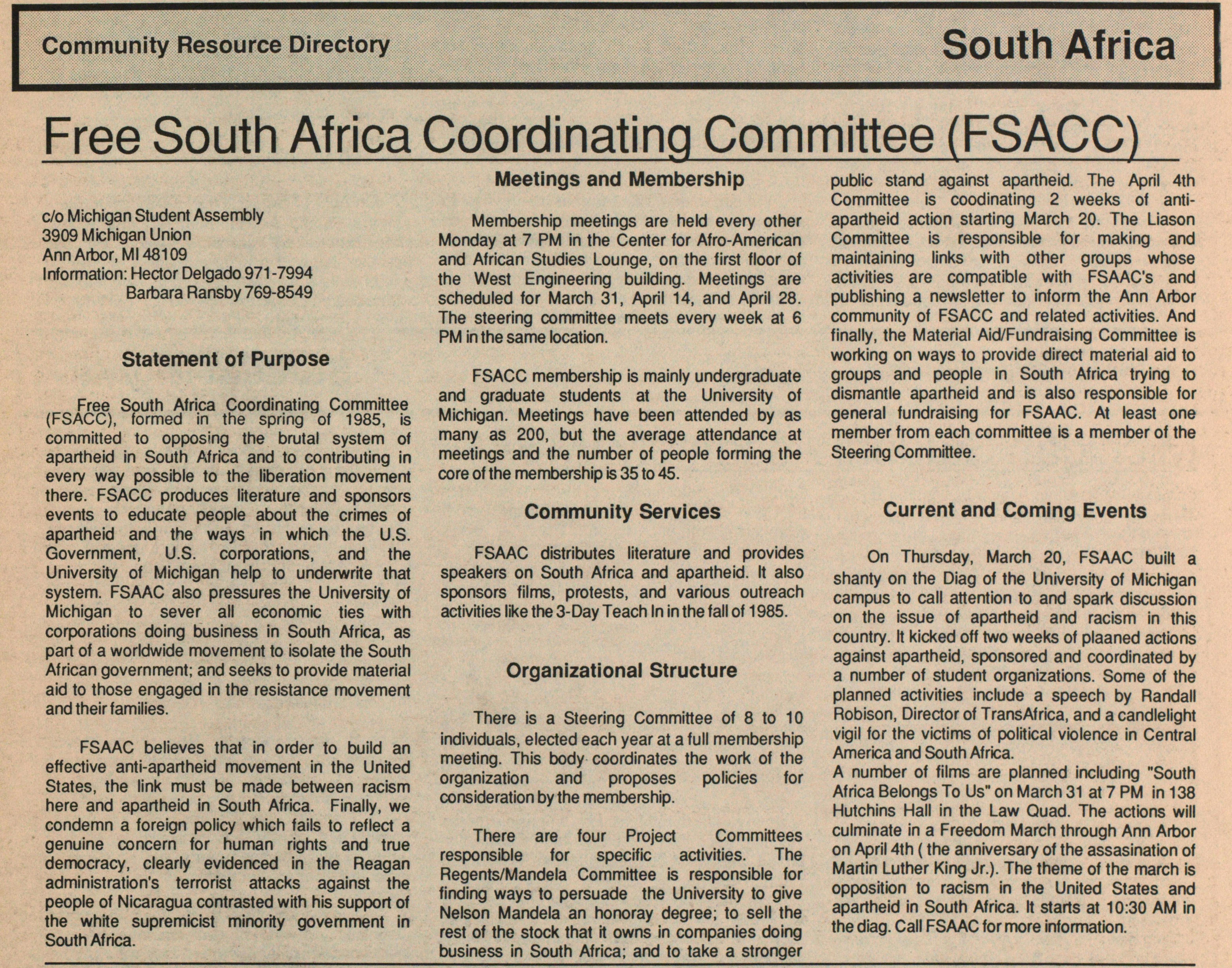 Free South Africa Coordinating Committee (FSACC) image