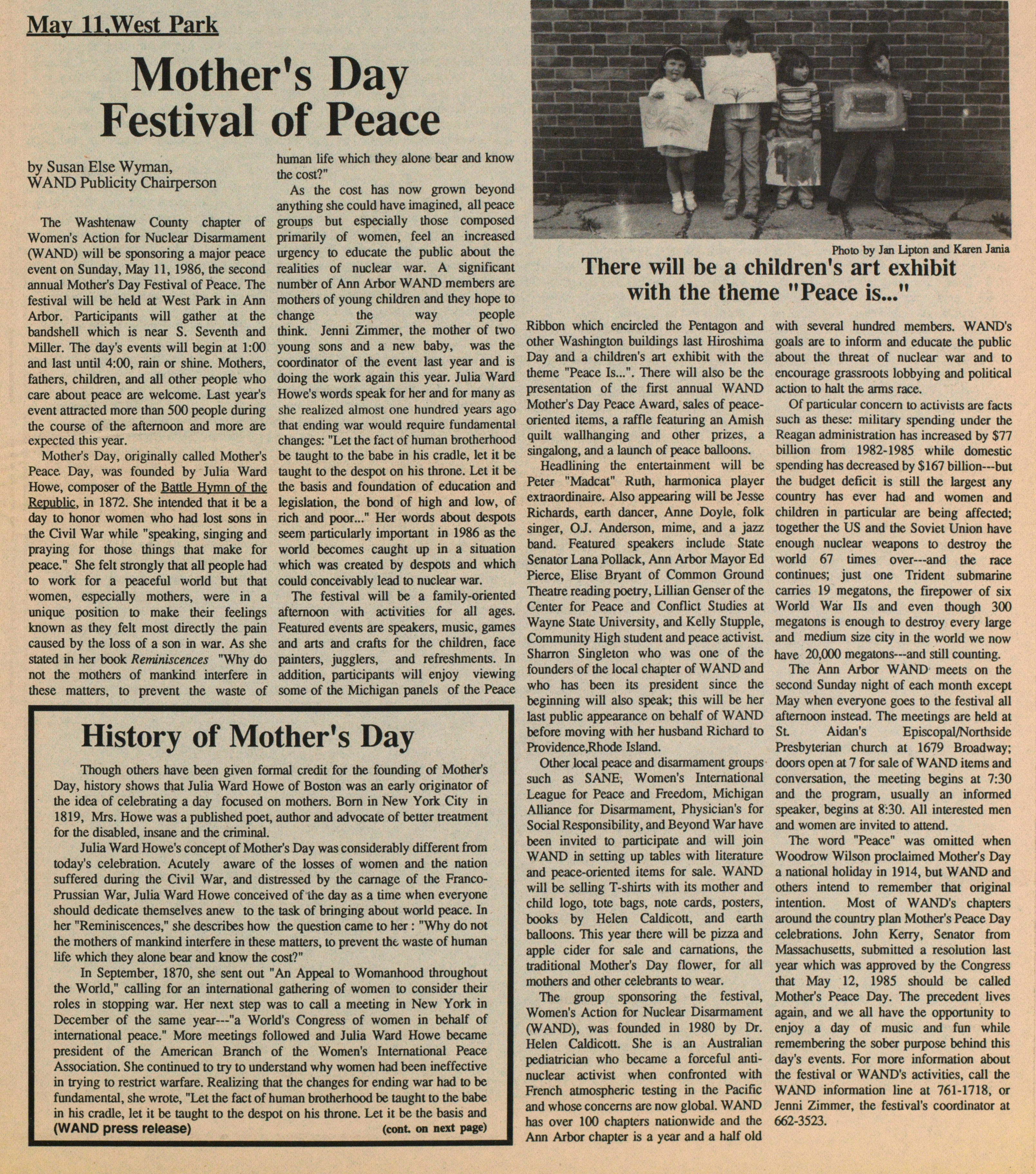 Mothers Day Festival Of Peace image